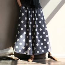 Johnature Corduroy Wide Leg Pants Vintage Elastic Waist Trouser 2019 Autumn Loose