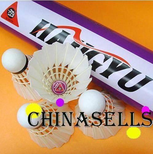 6 tubes Véritable HANGYU NO 3 badminton + 4 tube hangyu durable roi volants de badminton