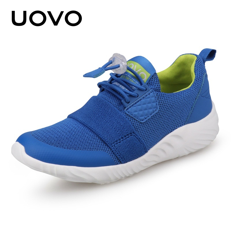 UOVO Kids Sport Shoes Boys Running Shoes 2018 Spring Children Breathable Mesh Shoes For Boys And Girls Fashion Sneakers 31#-36# uovo 2018 summer breathable kids running shoes fashion brand boys and girls casual shoes mesh sport shoes sneakers size 31 37