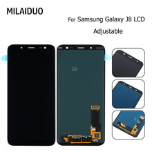 AMOLED/TFT LCD For Samsung Galaxy J8 2018 J800 SM-J800 Display Touch Screen Digitizer Assembly Replacement Adjustable Bright