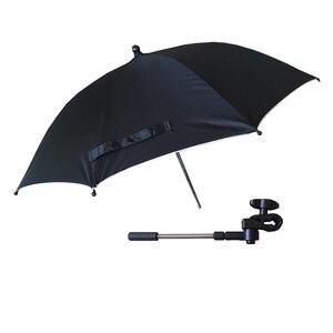 Image 2 - Wózek Parasol przenośny dziecko kolorowe wózek cień Parasol do wózka 360 stopni regulowany składany wózek yoya akcesoria
