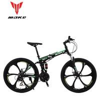 Make steel fouldable frame, mountain bike 26 alloy wheel, 24 speed SHIMANO MTB
