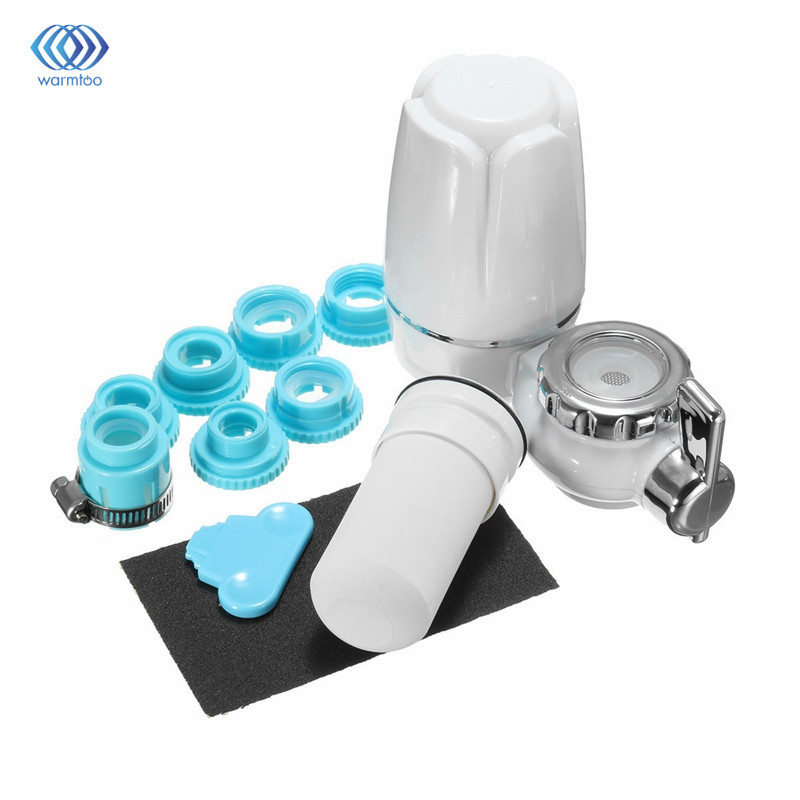 цены  Kitchen Faucets Tap Water Filter Household Water Purifier Washable Ceramic Percolator Mini Water Purification