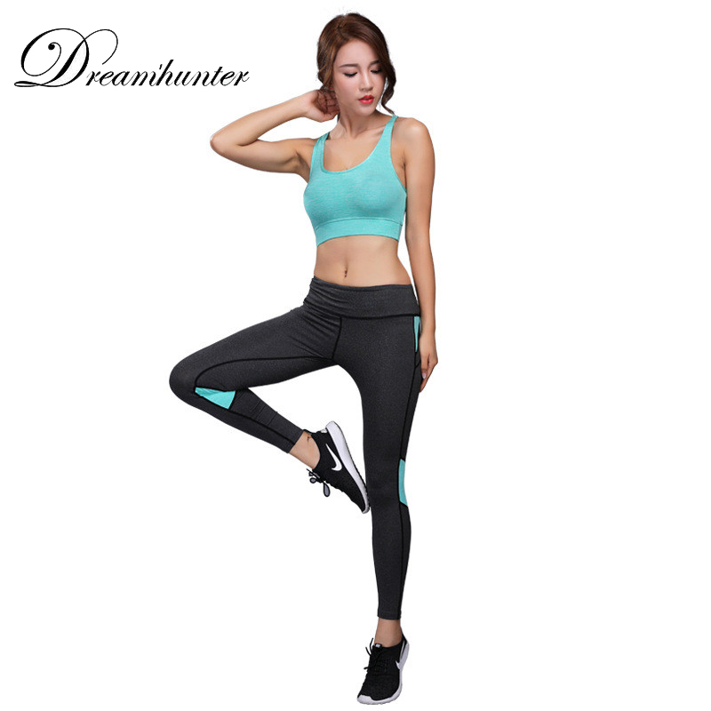 Girls Yoga Units Fast Dry Tracksuit Operating Sports activities Go well with Feminine Health Bra Elastic Exercise Leggings Gymnasium Clothes 2 Items Set Yoga Units, Low cost Yoga Units,...