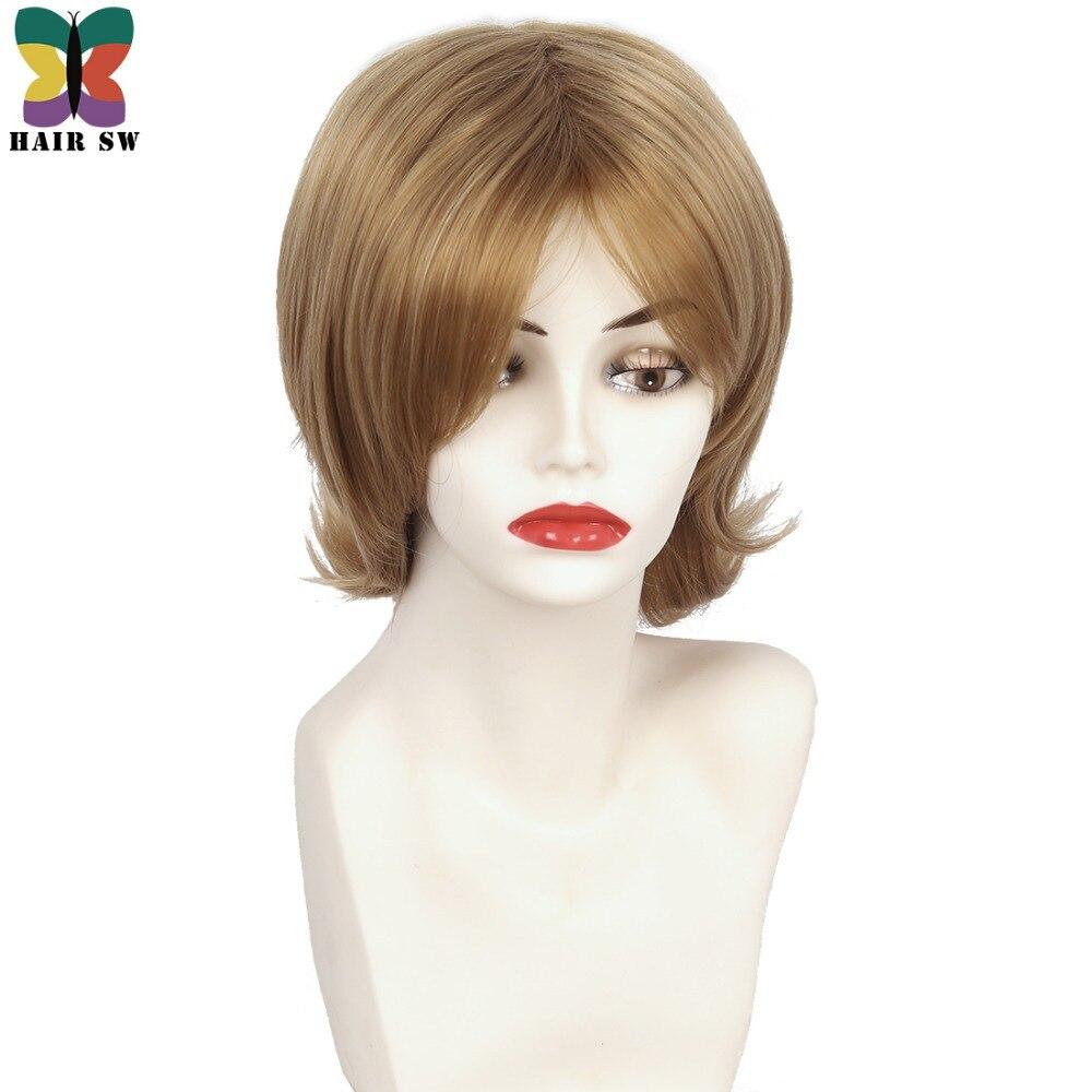 Волос SW Для женщин Мёд блондинка парик слоистых easy breezy вид с тонкими концами термо ...
