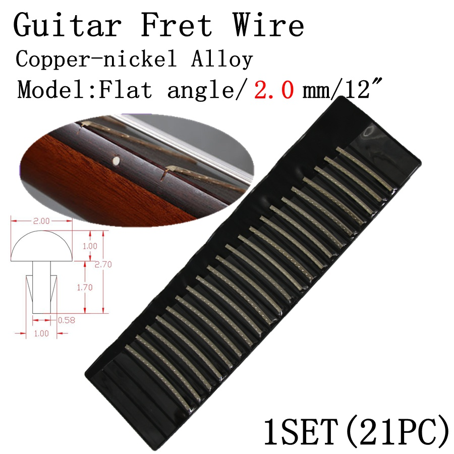 Silver Guitar Cupronickel 2.0mm Width Fret Wire for Acoustic Guitar