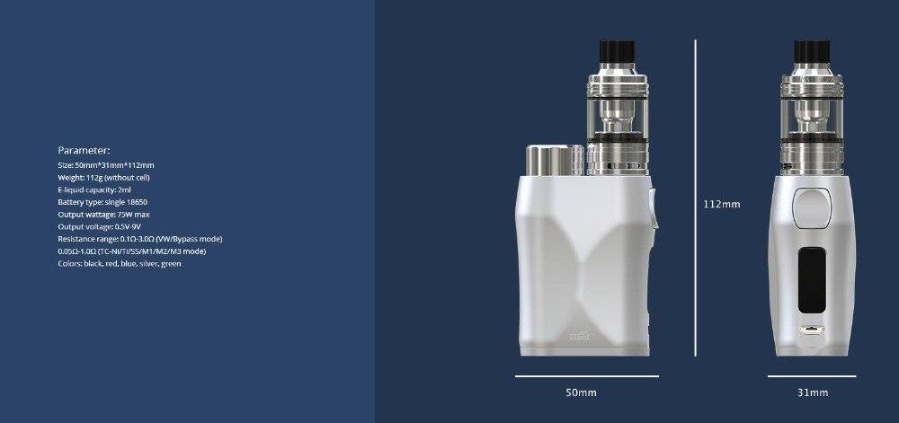 , electronic cigarette 75W Eleaf iStick Pico X With Melo 4 Sub Ohm Tank EC Mesh Coil 2ml Capacity 22mm By Single 18650 Vape e-cigs