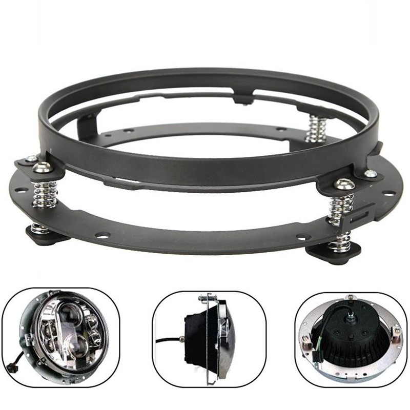 7 Inch Round Headlight Extension Ring Mounting Bracket For  Motocycle Jeep Wrangler Headllamp Mount