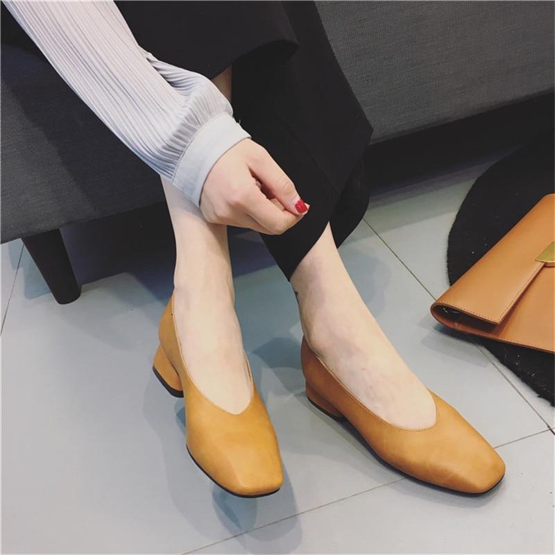 2018 neue Sommer Wild mit einzelnen Schuhe mittleren Alters Schuhe - Damenschuhe - Foto 5