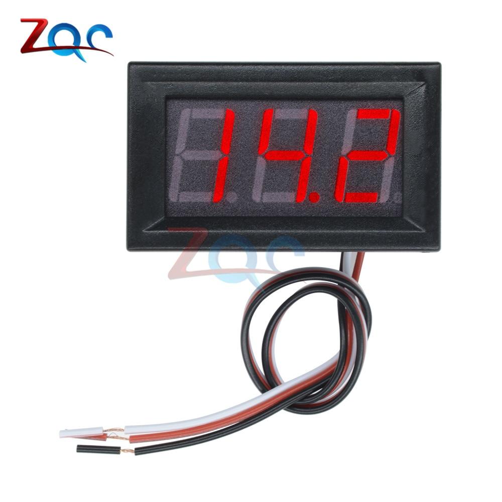 HTB1Z7S5a75E3KVjSZFCq6zuzXXak 0.56'' Mini LED Digital Voltmeter Detector DC 0-100V 12V 24V Voltage Capacity Monitor Volt Panel Tester Meter For Motorcycle Car