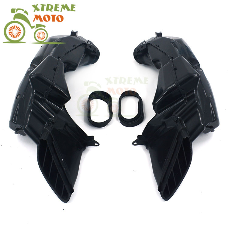 Motorcycle Air Intake Tube Duct Cover Fairing For SUZUKI GSXR600 GSXR750 2008-2010 2008 2009 2010 08 09 10 auto side air vent fender decoration sticker cover hole intake grille duct flow