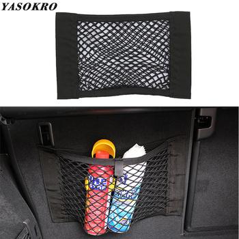 YASOKRO do przechowywania w bagażniku samochodowym torba siatka torba z siateczką 40cm * 25CM Car Styling uchwyt na bagaż kieszonka naklejana organizator bagażnika tanie i dobre opinie Bagażnik Box Torba Elastic meshc