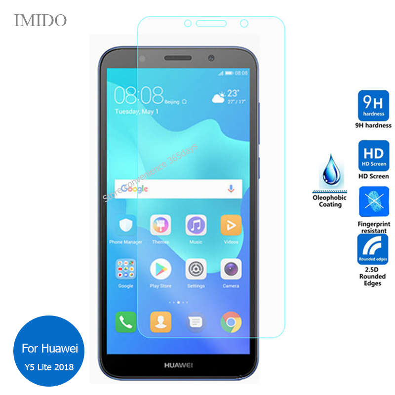 2PCS <font><b>For</b></font> <font><b>Huawei</b></font> Y5 Lite 2018 Tempered Glass Screen Protector 9h Safety Protective Film on Y 5 Lite (2018) <font><b>DRA</b></font>-LX5 <font><b>DRA</b></font> LX5 <font><b>LX2</b></font> image
