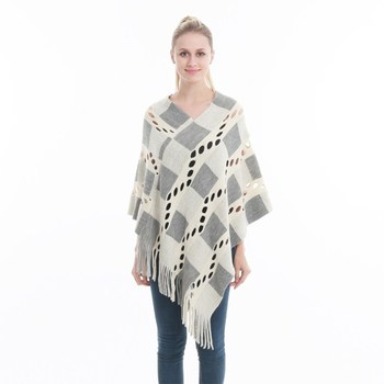 Spring Summer Women Hollow Out Sweater Knitted Tassel Shawl Poncho And Capes Ladies Long Size Cardigan Sweaters Coat