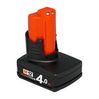 Power Tool Batterij Voor Milwaukee 48-11-2440 M12 REDLITHIUM XC 4.0 Uitgebreide Capaciteit Batterij M12B4