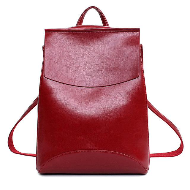 Mochila Leather Backpack for Girls