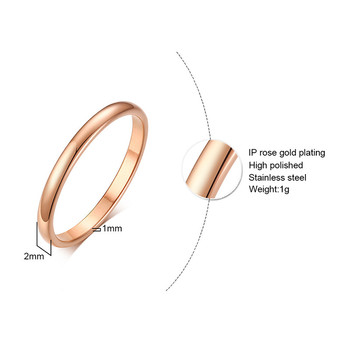 ZORCVENS 2020 New Engagement Ring for Women Simple 316L Stainless Steel Silver Gold Color Finger Girl Gift 2