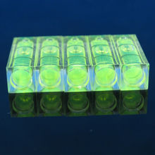 ¡Promociones! Nivel de burbuja PMMA cuadrado, 10x10x29mm, 5 unidades por lote, carcasa acrílica, nivel de burbuja, para estante de TV