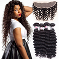 Malaysian Deep Wave With Frontal Deep Wave Malaysian Hair With Frontal 4 Bundles With Frontal Closure Deep Wave Hot Selling