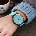 Harajuku Stil Farbe gelee Mode Frauen Uhren Hardlex spiegel Einfache Leder Armbanduhr für Mädchen Casual Quarzuhr Geschenke-in Partneruhren aus Uhren bei