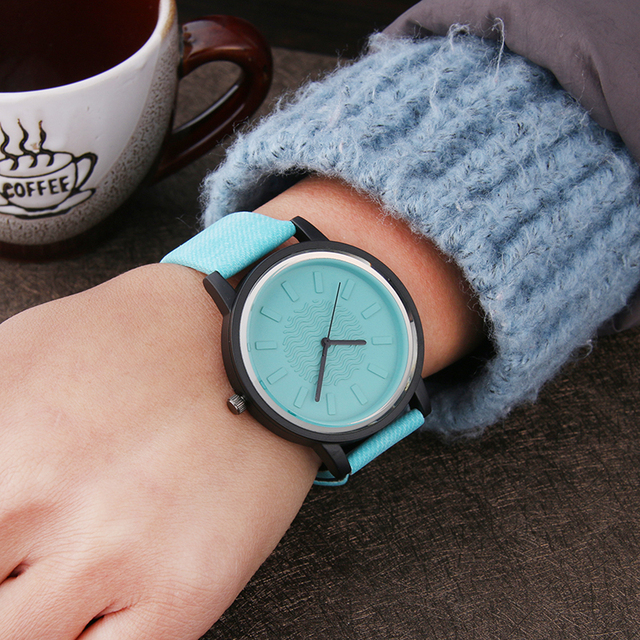 Harajuku Style Color jelly Fashion Women Watches Hardlex mirror Simple Leather W