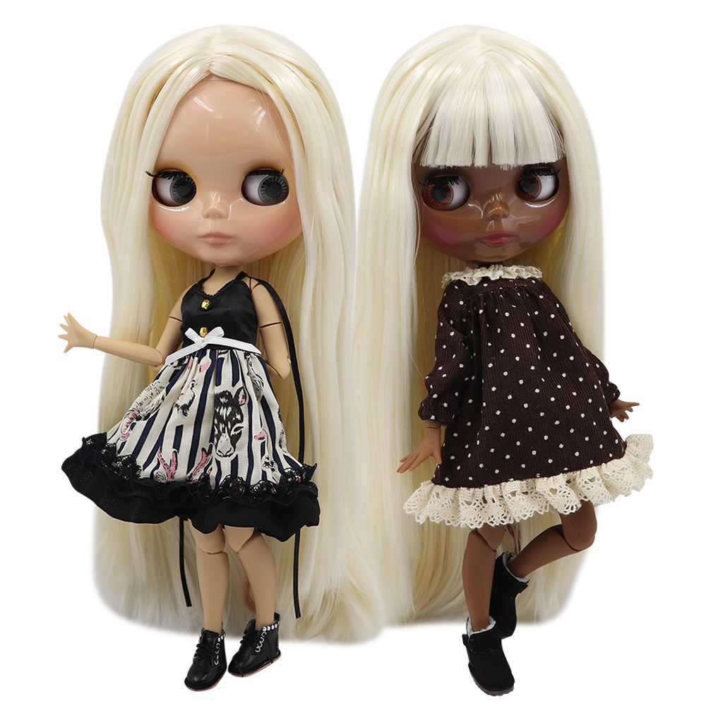 ICY 1 6 bjd factory blyth doll joint body pale blonde mix white hair BL136 340