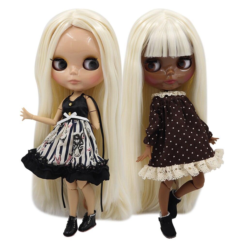 ICY 1/6 bjd fabrik blyth puppe joint körper pale blonde mix weiß haar BL136/340 30 cm, super schwarz haut oder tan haut-in Puppen aus Spielzeug und Hobbys bei  Gruppe 1