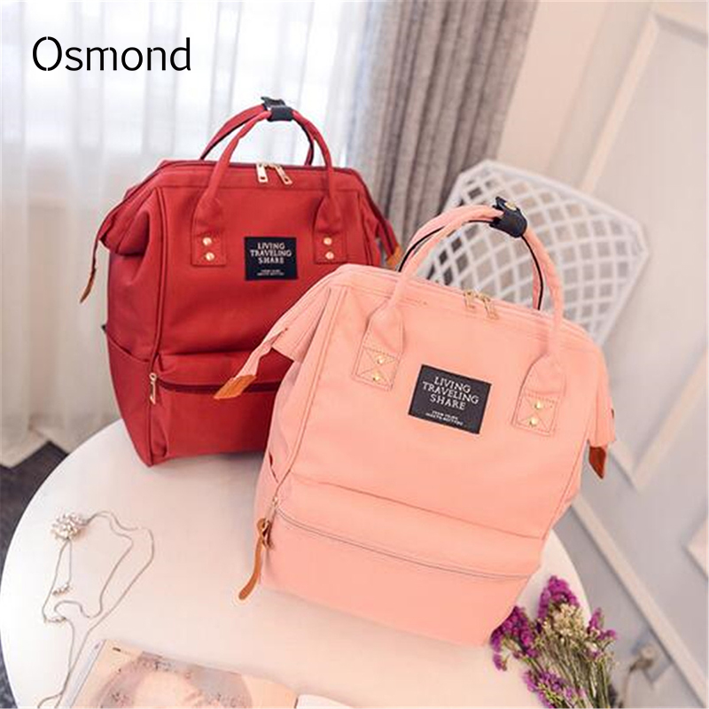 Large Schoolbag Girls Backpack Female Canvas Shoulder Bags Totes Letter Printed Rucksack Travel Hand Bag Casual Daypack Teen