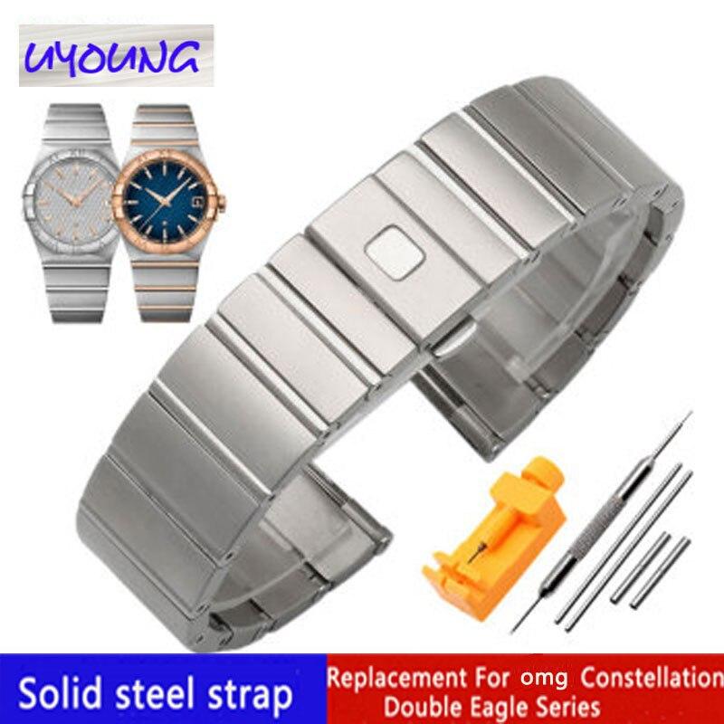 Solido acciaio inossidabile cinturino di Ricambio per o m g Double Eagle serie Della Costellazione 23 millimetri 25 millimetri watch band-in Cinturini per orologi da Orologi da polso su  Gruppo 1