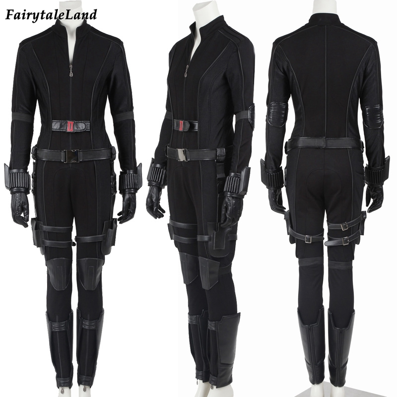 Captain America Civil War Black Widow Cosplay Costume Natasha Romanoff cosplay Captain America costume Black Widow