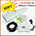 3G UMTS W-CDMA 2100 MHz 4G LTE FDD 2600 MHz Mobile Phone Signal Booster 3G 4G Amplificador Repetidor de sinal Display LCD/Full Set/Branco