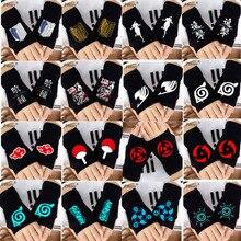 Модные перчатки без пальцев Аниме Наруто Сказочный хвост Токийский Гуль атака на Титанов Косплей теплые перчатки