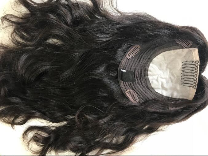 Лучших европейских натуральная волос Кошерные волосы Топпер, не парик, Необработанные волос еврейского волос Топпер Бесплатная доставка