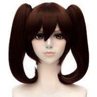 Los siete pecados mortales Diane pelucas marrón doble extraíble Clip de cola de caballo resistente al calor de cabello sintético Perucas Cosplay peluca