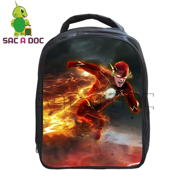 e80cdf5a118d Comics Hero The Flash Printing Backpack Kids Boys Girls School Bag Book Bag  Children Primary Kindergarten