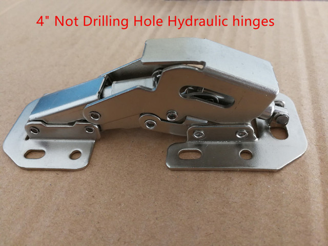 Hydraulic 4 inch 90 Degree Not Drilling Hole  Furniture Hinges Door Hinges free shipping