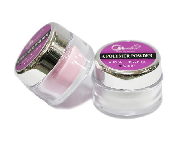 BEMLP nail art Acrylic Powder crystal powder transparent / white / pink 3 color 28g Nail ...