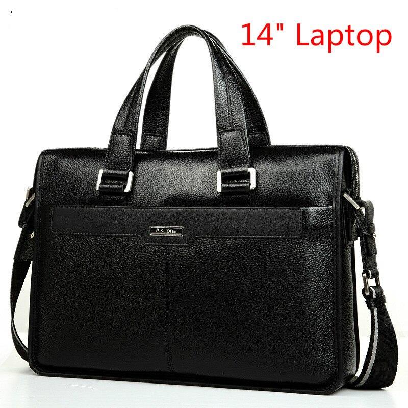 Briefcase Laptop-Bag Business-Bag Genuine-Leather Shoulder-Bags Men's Design Fashion