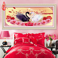 YGS-132 DIY 5D Diamonds Embroidery Love is better than gold Swans Round Diamond Painting Cross Stitch Diamond Mosaic Home Decor