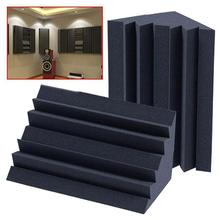 Universal Sound-absorption Soundproofing Foam Acoustic Bass Trap Corner Absorbers for Meeting Studio Room Drum Room Theater 24pcs 30x30x3cm soundproofing foam acoustic foam sound treatment studio room absorption wedge tiles polyurethane foam