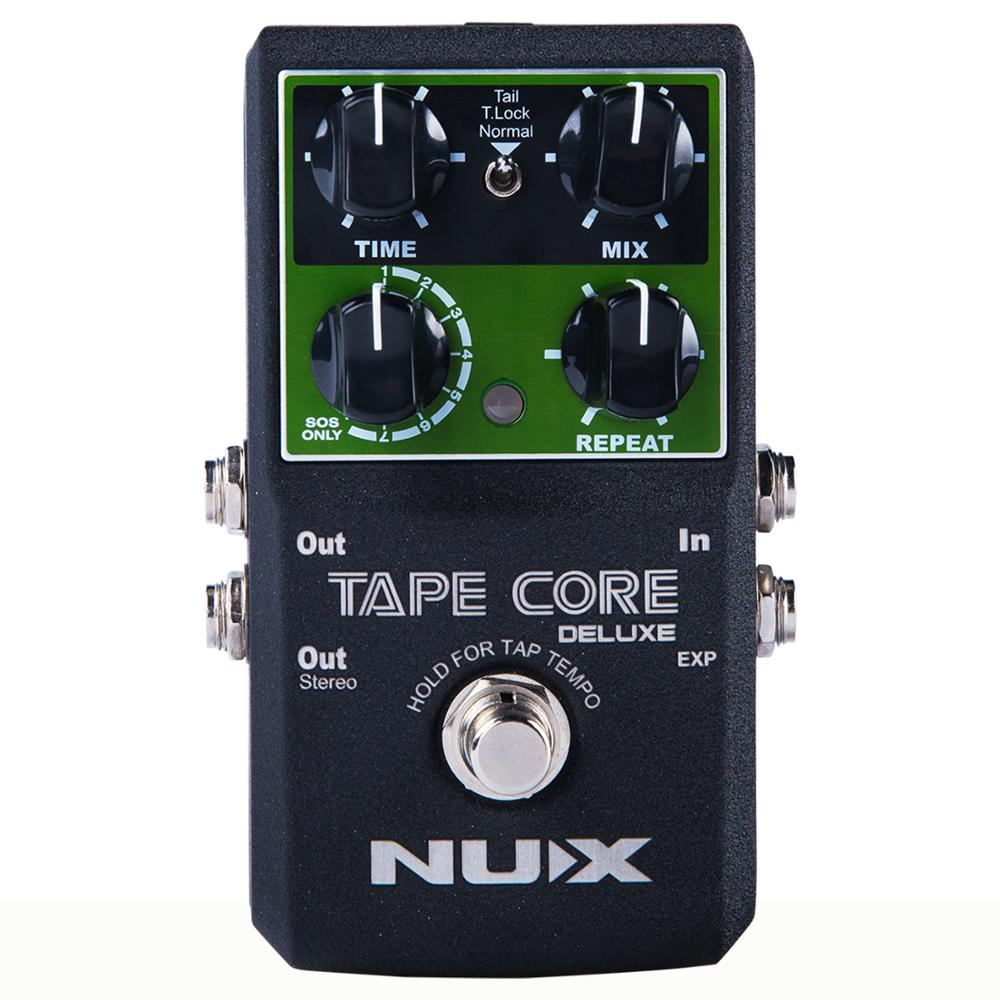NUX Tape Core Deluxe Echo 7 Models Delay Effects True Bypass Electric Bass Guitar Effect Pedal Accessories Musical Instruments nux tape core deluxe new arrival guitar effect pedal tape delay effector true bypass usb update firmware effects free shipping