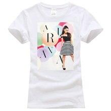 O-Neck Printing Short Sleeve Womens Dangerous Woman Ariana Grande T Shirt