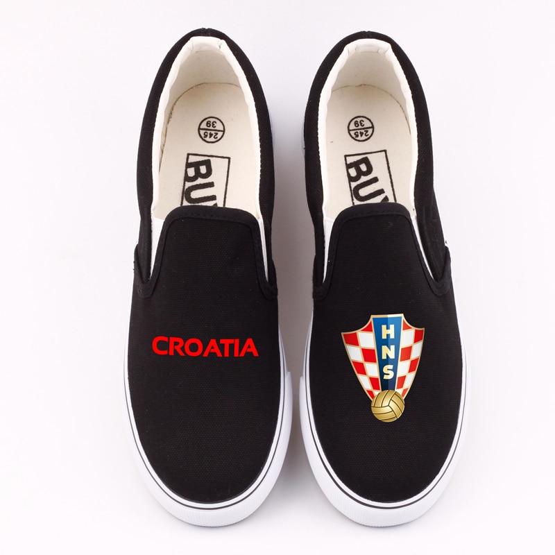 Hot Design Hrvatska Croatia Canvas Shoes Low Top Men Leisure Loafers Custom Croatian Croats Casual Flats For Croatia Fans