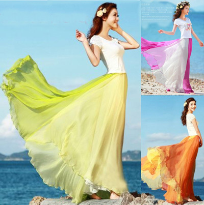Aliexpress.com : Buy Bohemian Midi Long Skirt Women Summer Beach ...