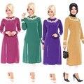 De la señora de la moda de gran tamaño Turquía musulmana dividir el tenedor camisa de las mujeres, vestido islámico Abaya Jilbab Oriente Medio vestido Maxi nuevo