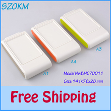 10 pcs/lot free smart home handheld plastic box abs plastic enclosures for hands  diy junction box for electronics 141x76x28mm