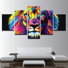 Lion Head Animal Print HD Canvas Painting Prints Bedroom Home Decor Artwork Modern Wall Art Oil Painting Posters Salon Pictures animal lion horse unicorn dog sheep head as pothook wall mount stuffed toys bedroom decor felt artwork wall dolls photo props