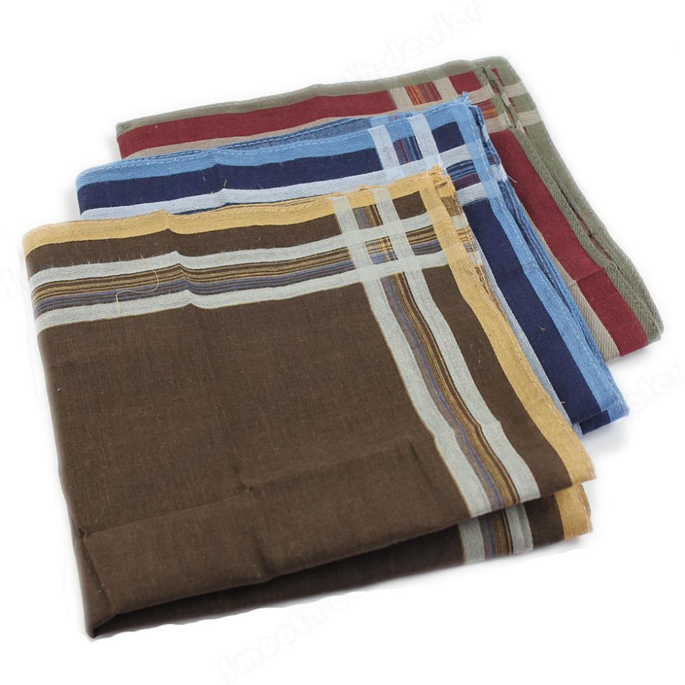 1PC New High Quality Classic Soft Comfort Plaid Handkerchief Selling