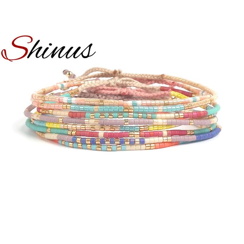Shinus Miyuki Bracelet For Women Jewelry Pulseras Mujer Bracelets Summer Beach Handmade Dlicas Beads Colorful Bileklik Joyeria