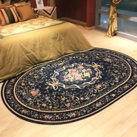 200*290cm American Pastoral Oval Rugs And Carpets For Home Living Room Countryside Home Bedroom Area Rugs Coffee Table Floor Mat